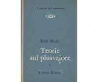 TEORIE SUL PLUSVALORE libro quarto del capitale volume  I di  KARL MARX