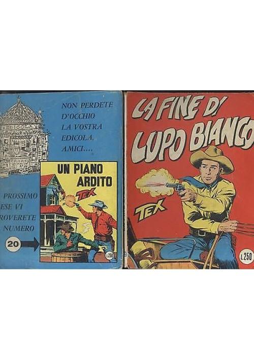 TEX - LA FINE DI LUPO BIANCO-  N.19 settembre 1965