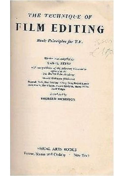 THE TECNIQUE OF FILM EDITING BASIC PRINCIPLES FOR TV  Karel Reisz - Visual Arts