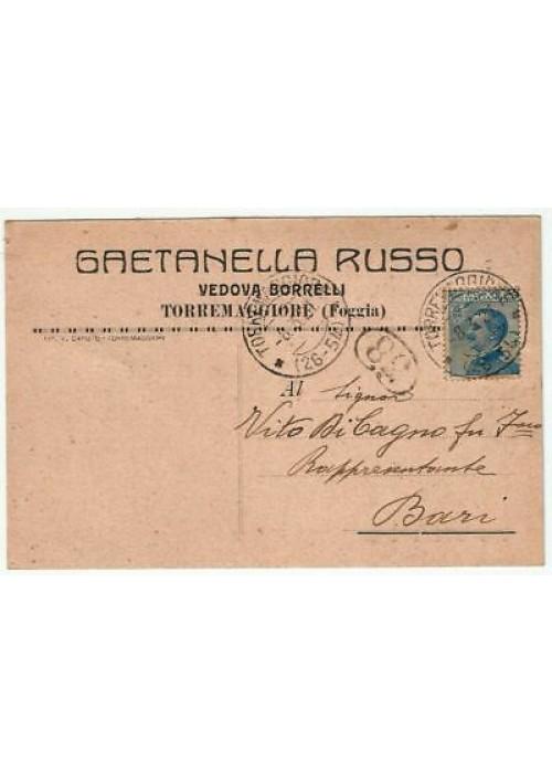 TORREMAGGIORE Gaetanella Russo vedova Borrelli (FOGGIA) CARTOLINA 1921 VIAGGIATA