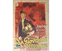 TOTO' SAN GIOVANNI DECOLLATO Locandina manifesto poster ORIGINALE GELENG  totò
