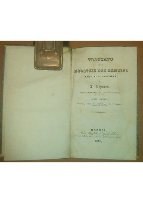 TRATTATO DELLE MALATTIE DEI BAMBINI fino alla pubertà - Capuron 1838 Puzziello