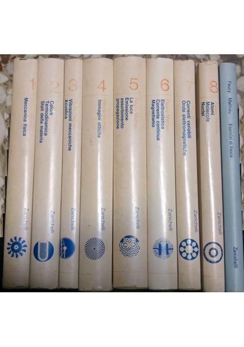 TRATTATO DI FISICA GENERALE E SPERIMENTALE Fleury Mathieu 9 voll. completa II ed