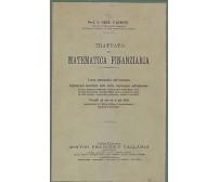 TRATTATO DI MATEMATICA FINANZIARIA TEORIA DELL INTERESSE 1916 Ortu Carboni