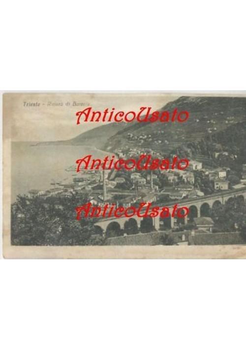TRIESTE RIVIERA DI BARCOLA - ORIGINALE non viaggiata formato piccolo bianconero