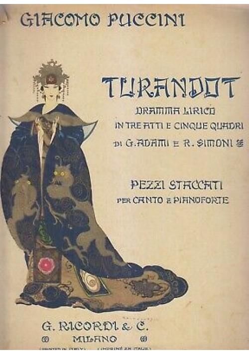 TURANDOT dramma lirico Giacomo Puccini - Ricordi  ILLUSTRATO Brunelleschi