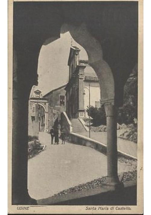 UDINE SANTA MARIA DI CASTELLO cartolina viaggiata 1929