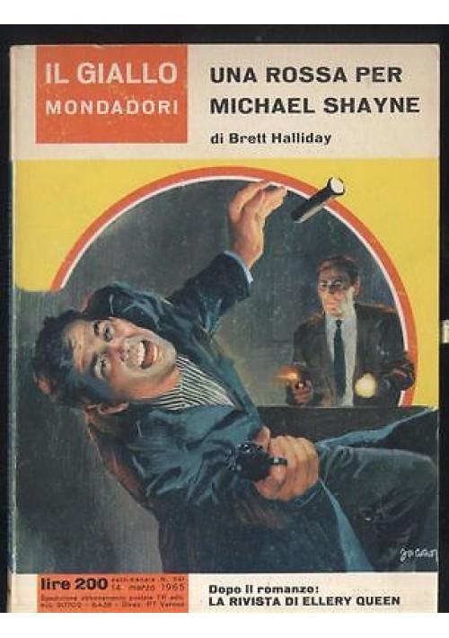 UNA ROSSA PER MICHAEL SHAYNE  Brett Halliday n. 841 Il giallo Mondadori 1965