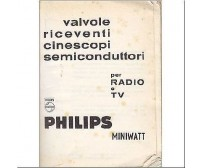 VALVOLE RICEVENTI , CINESCOPI, SEMICONDUTTORI PER RADIO E TV - Philips miniwatt