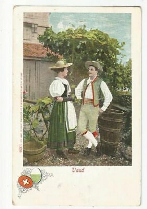 VAUD SVIZZERA costumi tipici cartolina viaggiata primi del '900