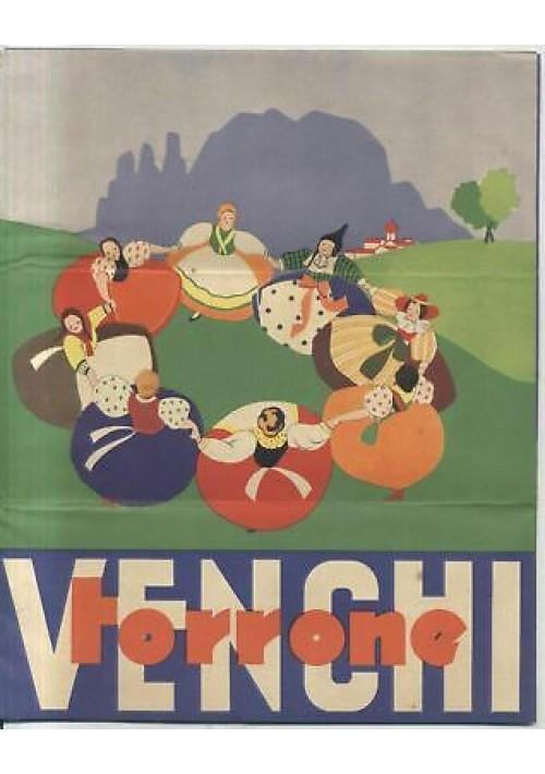 VENCHI TORRONE pubblicità depliant 1935 Chiarel illustrato studio Chiarelli