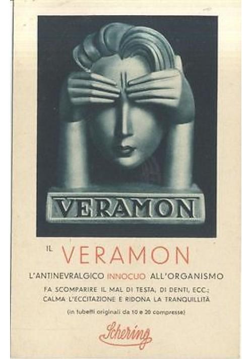 VERAMON SCHERING CARTOLINA PUBBLICITARIA NON VIAGGIATA ANNI '30 MEDICINALE