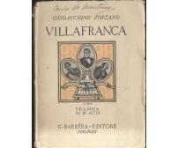 VILLAFRANCA DRAMMA IN 3 ATTI Giovacchino Forzano 1932 Barbera