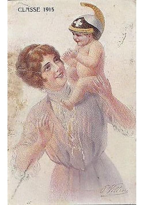 VILLANI - CLASSE 1915 - BELLISSIMA CARTOLINA BAMBINI A COLORI VIAGGIATA 29/10/1916