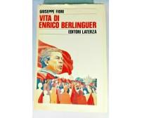 VITA DI ENRICO BERLINGUER di Giuseppe Fiori 1989 Laterza libro biografia