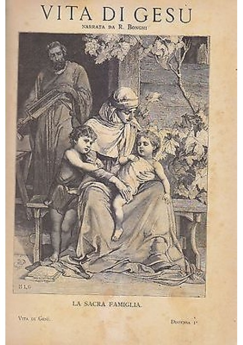 VITA DI GESÙ di Ruggero Bonghi  - Edoardo Perino editore 1890