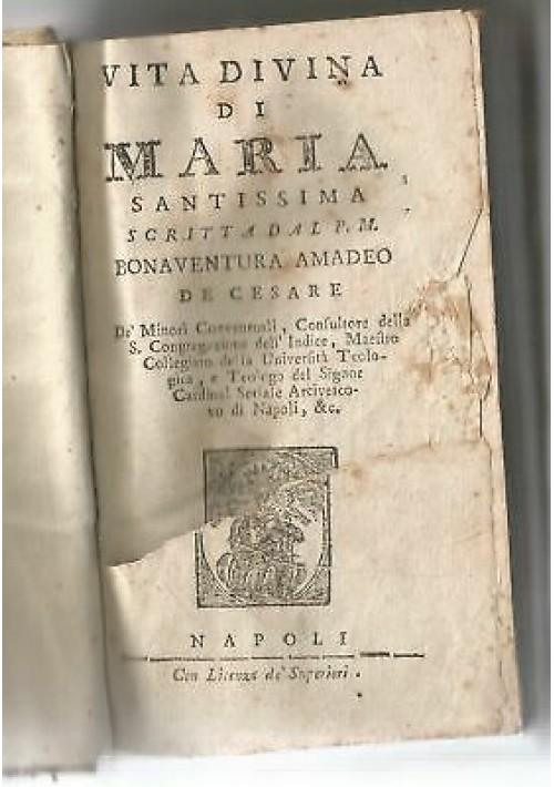 VITA DIVINA DI MARIA SANTISSIMA scritta dal padre Bonaventura Amadeo De Cesare