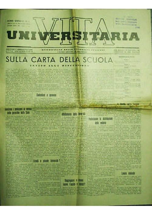 Vita Universitaria  Quindicinale Università Italiane anno III n.11  05 03 1939