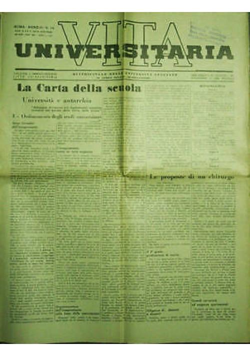 Vita Universitaria Quindicinale Università Italiane anno III n.14 del 30/04/1939