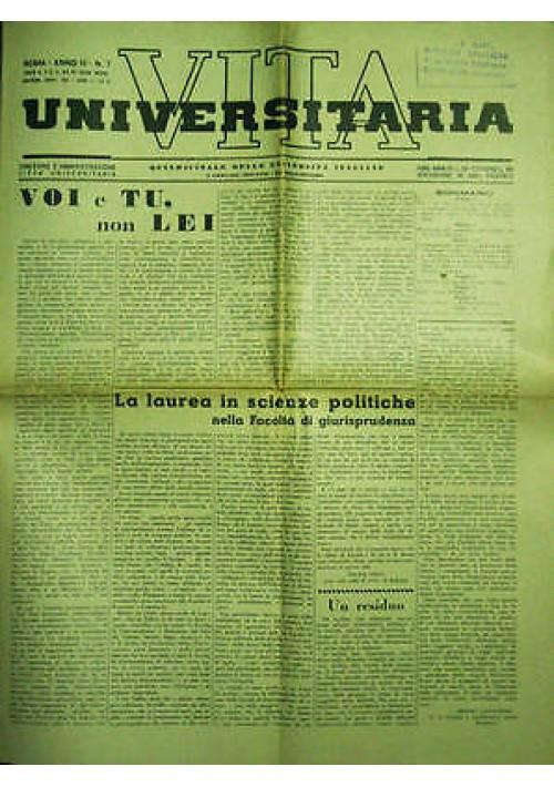 Vita Universitaria  Quindicinale Università Italiane anno III n.7 del 05/01/1939