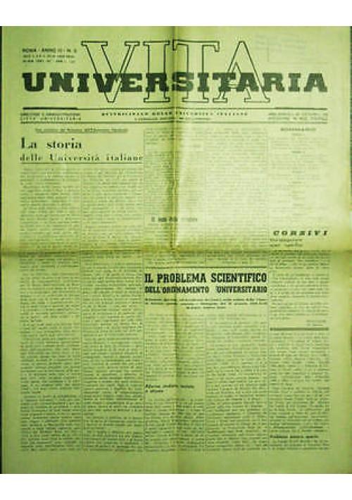 Vita Universitaria  Quindicinale Università Italiane anno III n.9 del 05/02/1939