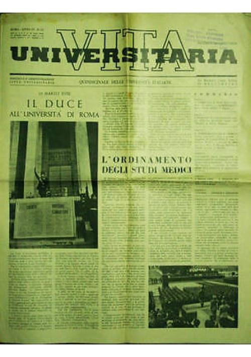Vita Universitaria Quindicinale Università Italiane anno IV n.12 del 30 03 1940