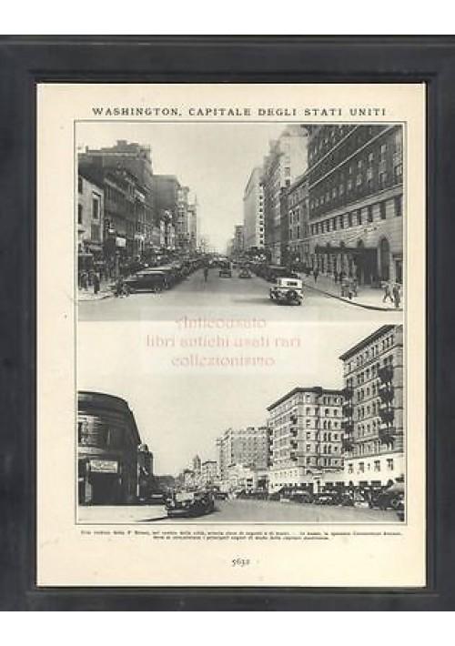 WASHINGTON  bellissima foto 1931  american style - una veduta della F street