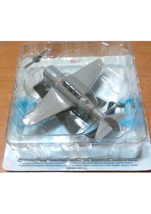 YAKOVLEV YAK-11 ЯК - 11 modellino aereo in metallo con base NUOVO in confezione