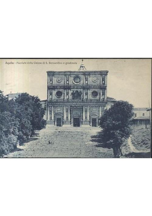 cartolina AQUILA - FACCIATA CHIESA S. BERNARDINO - ORIGINALE  non viaggiata