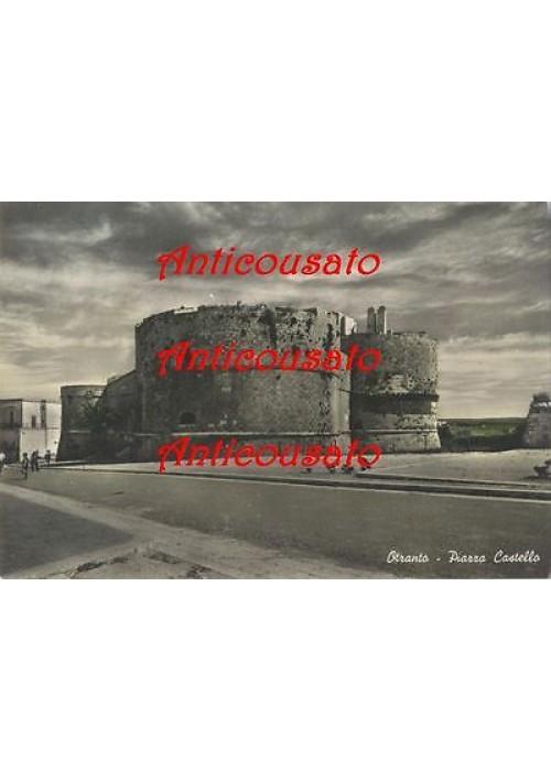 cartolina OTRANTO piazza Castello - NON VIAGGIATA - colorata a mano anni '50