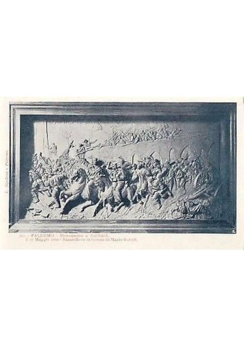 cartolina PALERMO MONUMENTO A GARIBALDI di Mario Rutelli - L. Sandron  210