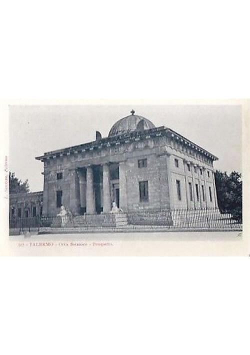 cartolina PALERMO ORTO BOTANICO PROSPETTO  L. Sandron n.317 - originale
