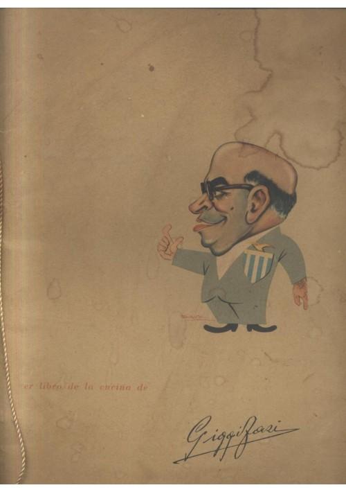 er libro de la cucina de Giggi Fazi menù originale anni '60 Lazio hostaria